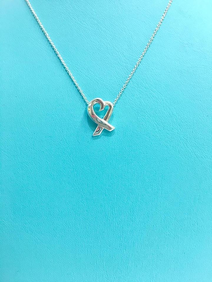 Tiffany co sterling silver classic paloma picasso loving heart sterling silver classic paloma picasso loving heart pendant 16 necklace aloadofball Image collections