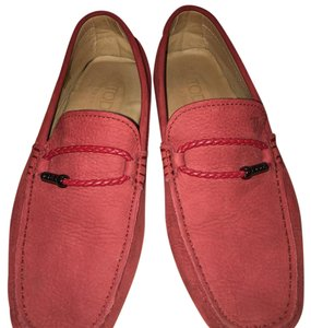 Tod's Spice Burgandy Persimmon Flats