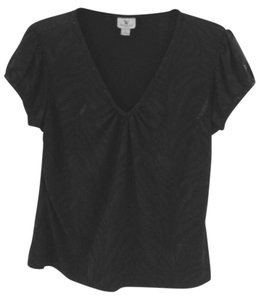 Worthington V-neck Top Black