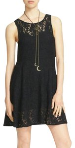 Free People short dress Black Miles Fit & Flare on Tradesy