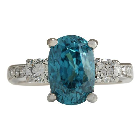 Preload https://img-static.tradesy.com/item/21203909/blue-765-carat-natural-zircon-14k-white-gold-diamond-ring-0-0-540-540.jpg