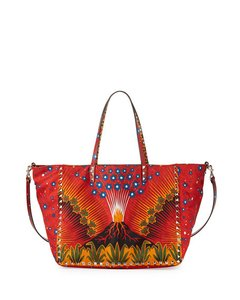 Valentino Enchanted Wonderland Satchel in Red Multi
