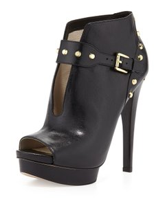 Michael Kors Studded Edgy Leather Black Boots