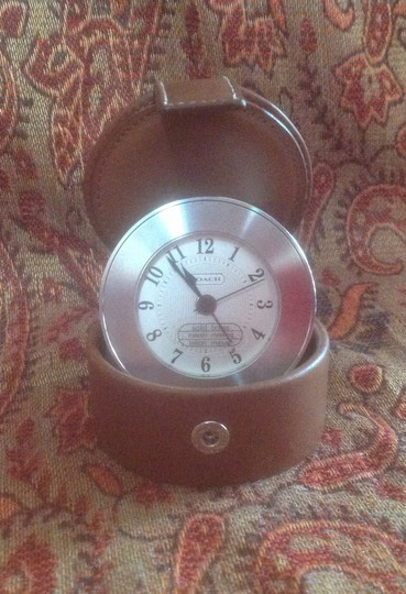 Coach Coach Mens or Womens Travel Alarm Clock Desk Clock