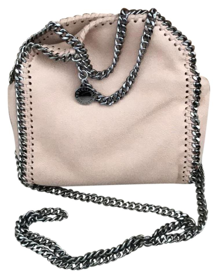 aeb5cb067d Stella McCartney Tiny Falabella Blush Nude Faux Suede Cross Body Bag ...