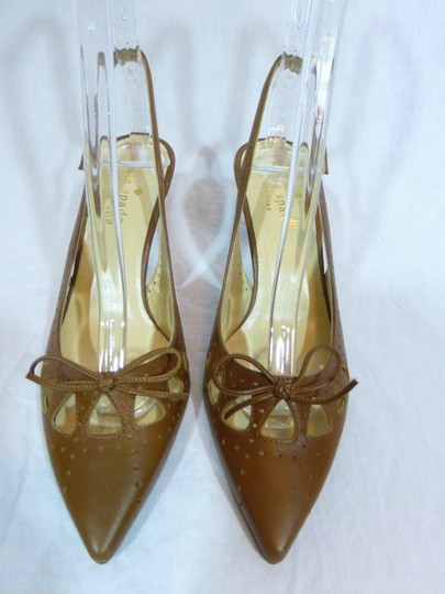 Kate Spade Leather Italy Brown Pumps Image 1