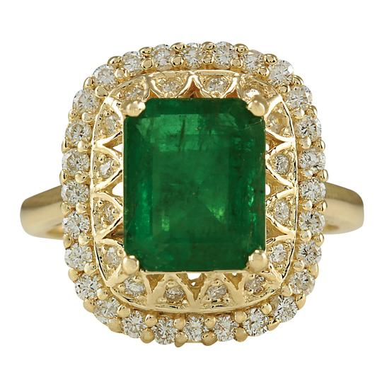 Preload https://img-static.tradesy.com/item/21204140/green-311-carat-natural-emerald-14k-yellow-gold-diamond-ring-0-0-540-540.jpg