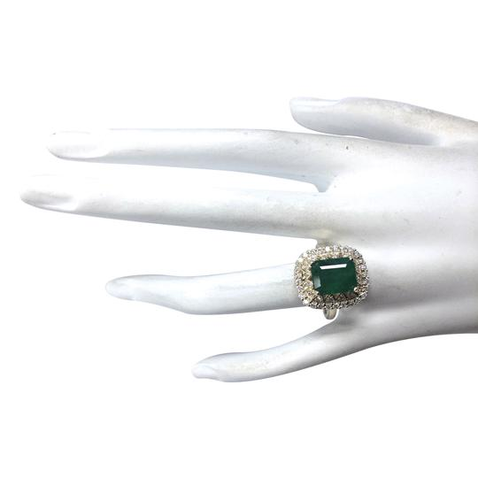 Fashion Strada 3.11 Carat Natural Emerald 14K Yellow Gold Diamond Ring Image 3