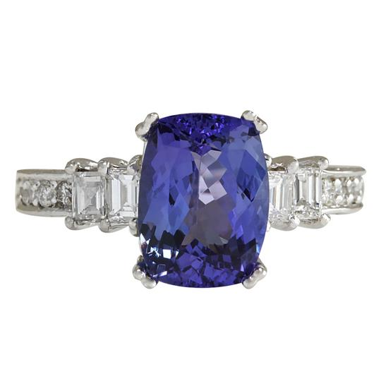 Preload https://img-static.tradesy.com/item/21204172/blue-375-carat-natural-tanzanite-14k-white-gold-diamond-ring-0-0-540-540.jpg