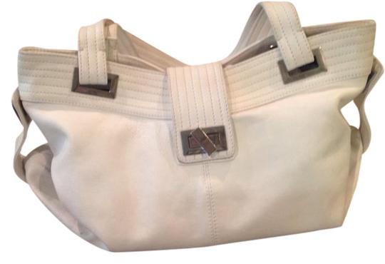 Kooba Crisp Soft Leather Tote in White Image 0