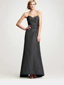 Ann Taylor Charcoal Ann Taylor Carolina Silk Faille Gown Dress