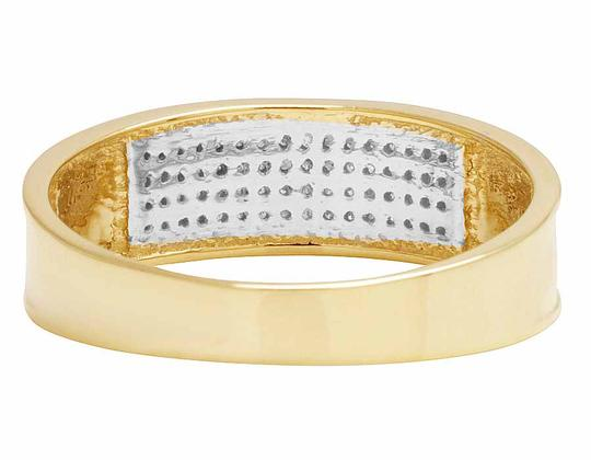 Jewelry Unlimited 10K Yellow Gold Real Diamond Men's Band Ring 1/4 CT 12MM Image 1