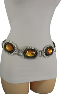 Alwaystyle4you Women Belt Silver Faux Leather Faux Leather Western Buckle Ethnic