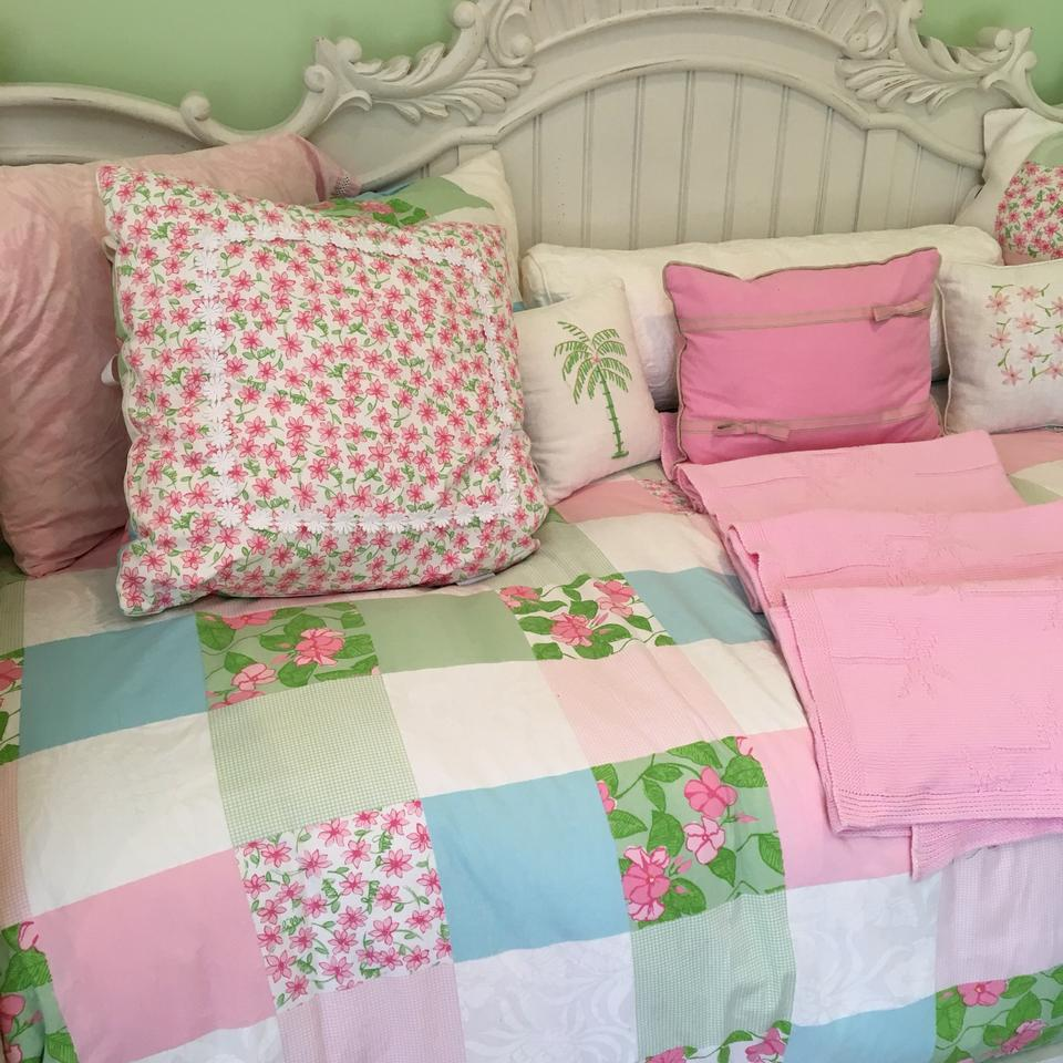 Lilly Pulitzer Pink Green Rare Patchwork Bedding Set