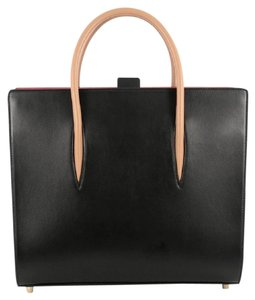 Christian Louboutin Leather Tote in Black and Red