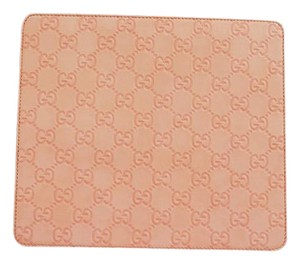 Gucci NEW Authentic GUCCI Guccissima Leather Mouse Pad wBox Baby Pink 197216