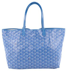 Goyard Canvas Tote in blue