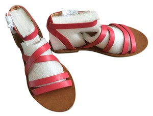Lucky Brand Leather Raspberry Sandals