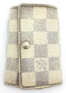 Louis Vuitton #11476 *Clearance* Damier Azue Leather Trofold 6 Ring Key Holder
