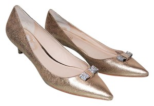 Coach Metallic Gold Pumps