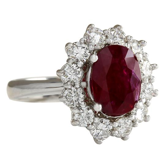 Fashion Strada 3.38 Carat Natural Ruby 14K White Gold Diamond Ring Image 1