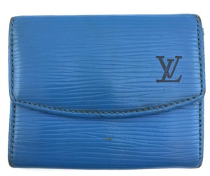 Louis Vuitton #11477 *Clearance* Blue Epi Leather Coin card Holder monogram