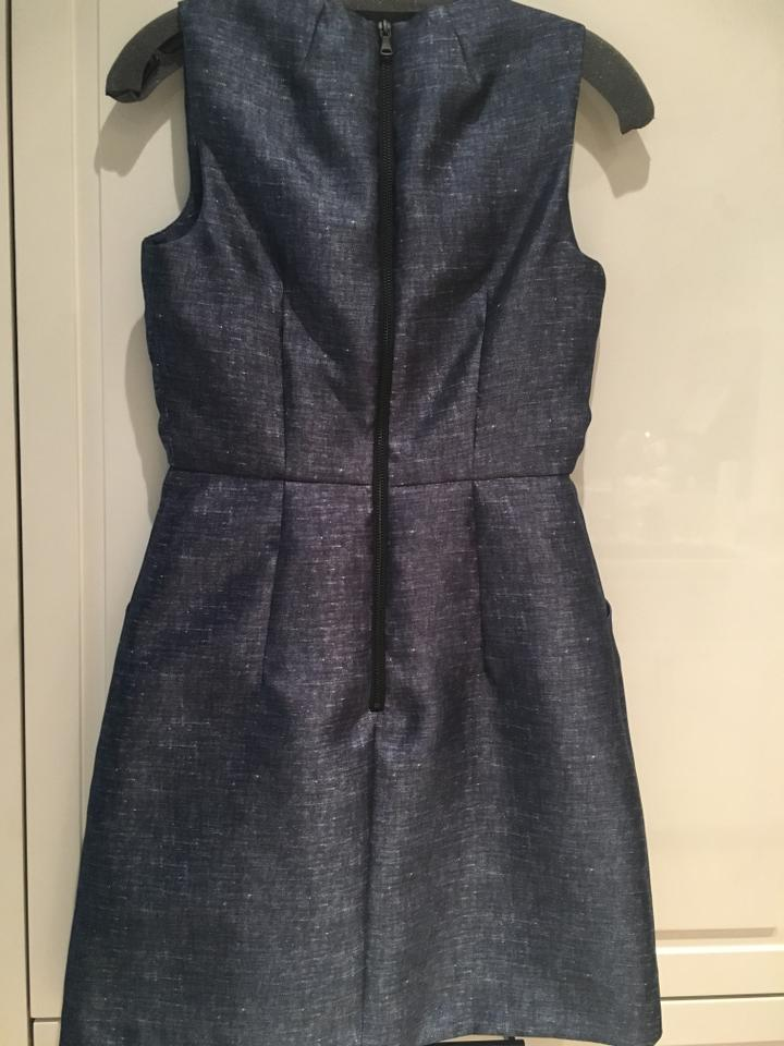6cb8a29a3c MILLY Coco Sleeveless Denim-print Short Cocktail Dress Size 4 (S ...