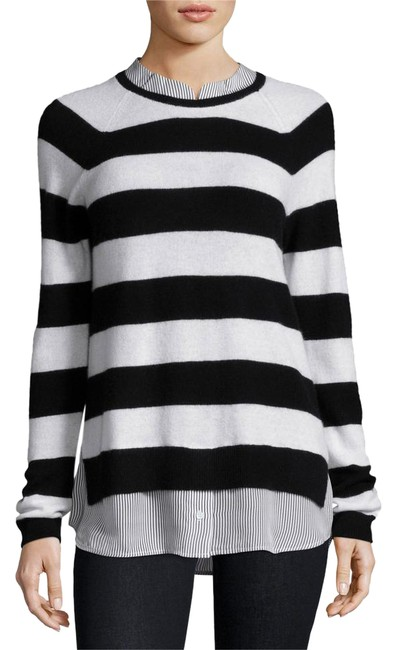 Preload https://img-static.tradesy.com/item/21204918/joie-aisley-striped-cashmere-sweater-shirt-combo-sweaterpullover-size-6-s-0-1-650-650.jpg