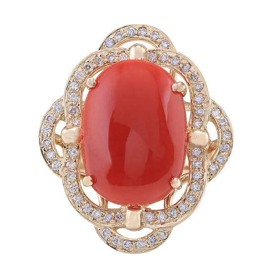 Preload https://img-static.tradesy.com/item/21205008/792ctw-natural-coral-and-diamond-in-14k-yellow-gold-ring-0-0-540-540.jpg