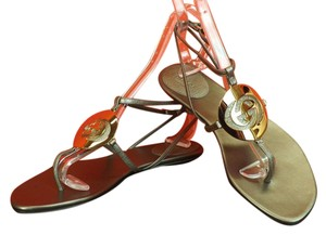 Gucci Sasso/Stone/Metallic Silver/Gold Sandals