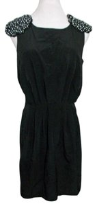 H&M H & M Sheath Lbd Beaded Shoulders Epaulets Dress