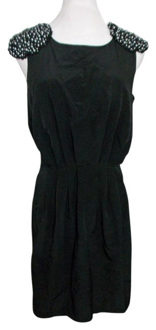 H&M H & M Sheath Lbd Beaded Shoulders Epaulets Dress Image 0