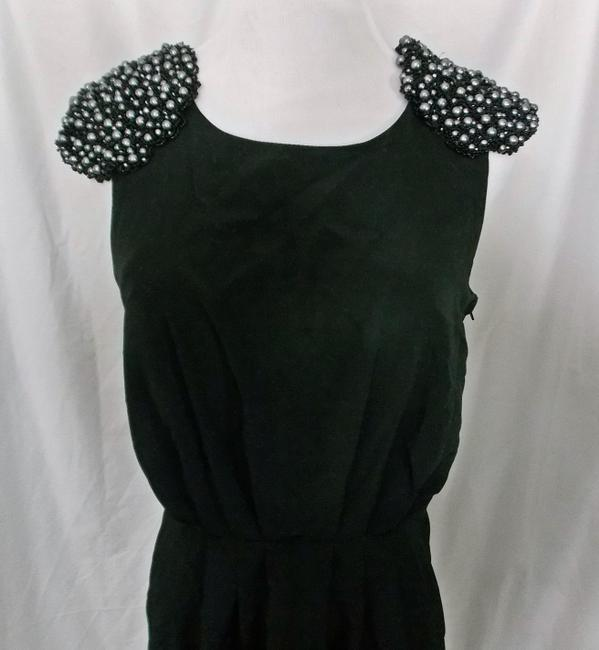 H&M H & M Sheath Lbd Beaded Shoulders Epaulets Dress Image 2