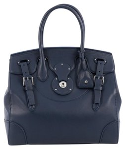 Ralph Lauren Leather Tote in Blue
