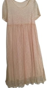 Kiko short dress Peach Vintage 90's Lace Fun on Tradesy