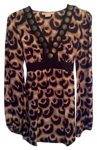 Michael Kors Silk Billowy Sleeves Top Leopard print (brown / black)