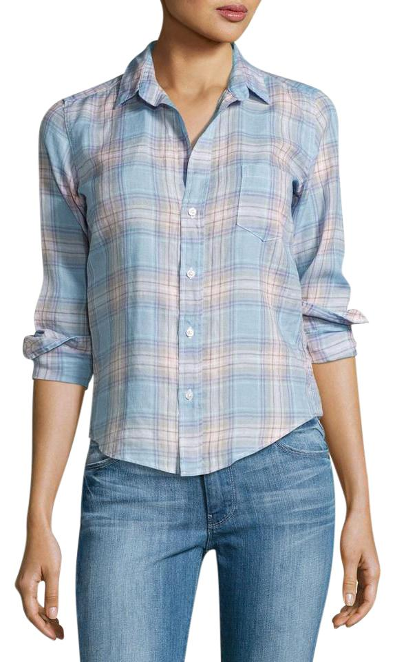 3bf5157b Barry Plaid Long-sleeve Linen Shirt Button-down Top Size 4 (S) - Tradesy
