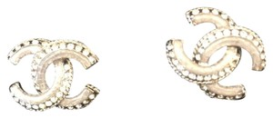 Chanel BN Chanel CC Logo Stud Earrings in Gold with Crystals
