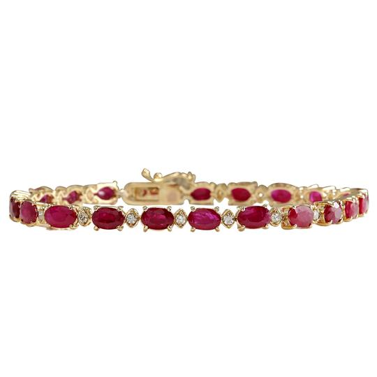 Preload https://img-static.tradesy.com/item/21205226/1295ctw-natural-red-ruby-and-diamond-14k-yellow-gold-bracelet-0-0-540-540.jpg