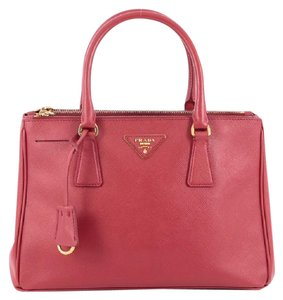 Prada Saffiano Leather Tote in Red