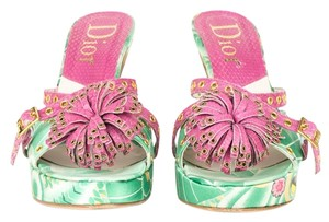 Dior Green and Pink Sandals