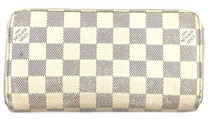 Louis Vuitton #11487 *Clearance* Damier Azur 8 card slots Long zip around Wallet