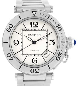 Cartier Cartier Pasha Seatimer Stainless Steel Silver Dial Watch W31080M7