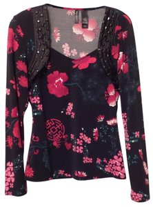 Bisou Bisou Like New Asian Knit Medium Long Top Black, Red, Green, Pink +