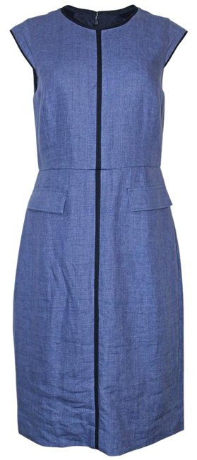 Preload https://img-static.tradesy.com/item/21205715/jcrew-heathered-blue-pre-owned-patch-pocket-sheath-in-tipped-linen-mid-length-short-casual-dress-siz-0-1-650-650.jpg