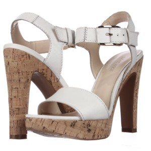 Nine West White Platforms