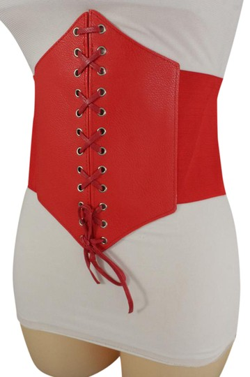 Preload https://img-static.tradesy.com/item/21205728/red-women-corset-hip-high-waist-stretch-wide-faux-leather-sexy-belt-0-1-540-540.jpg