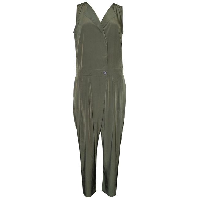 Item - Olive Pre-owned Petite Sleeveless Trench Romper/Jumpsuit