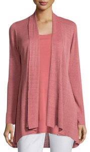 Eileen Fisher Linen Crepe Shaped Knit Cardigan