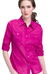 Tory Burch Button Down Shirt Magenta pink